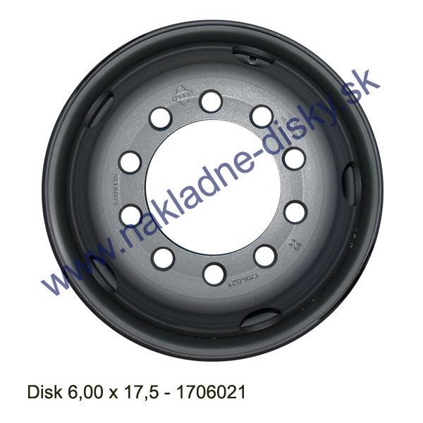 Nákladní disk 6,00x17,5 (10x176/ET121/Std BZ) Ples