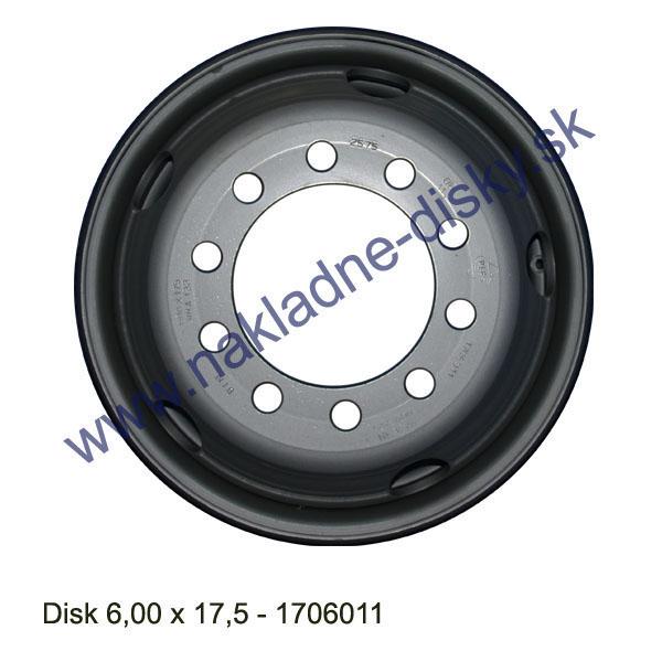 Nákladní disk 6,00x17,5 (10x176/ET121/Std MZ) Ples