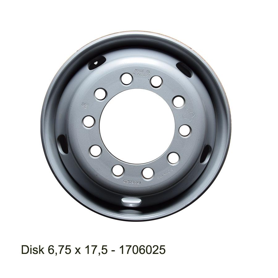 Nákladní disk 6,75x17,5 (8x221/ET135,5/Alive MZ) Ples