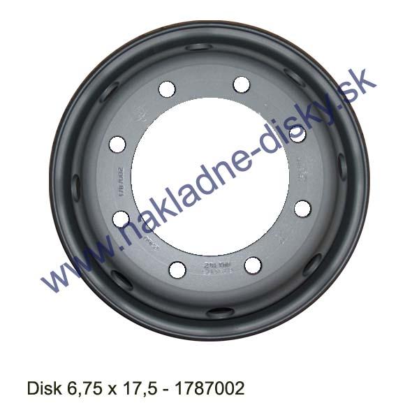 Nákladní disk 6,75x17,5 (8x221/ET130/Std MZ) Ples