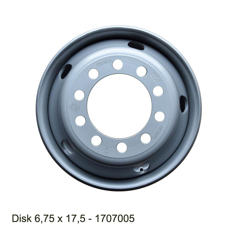 Nákladní disk 6,75x17,5 (10x176/ET133/Std MZ) Ples
