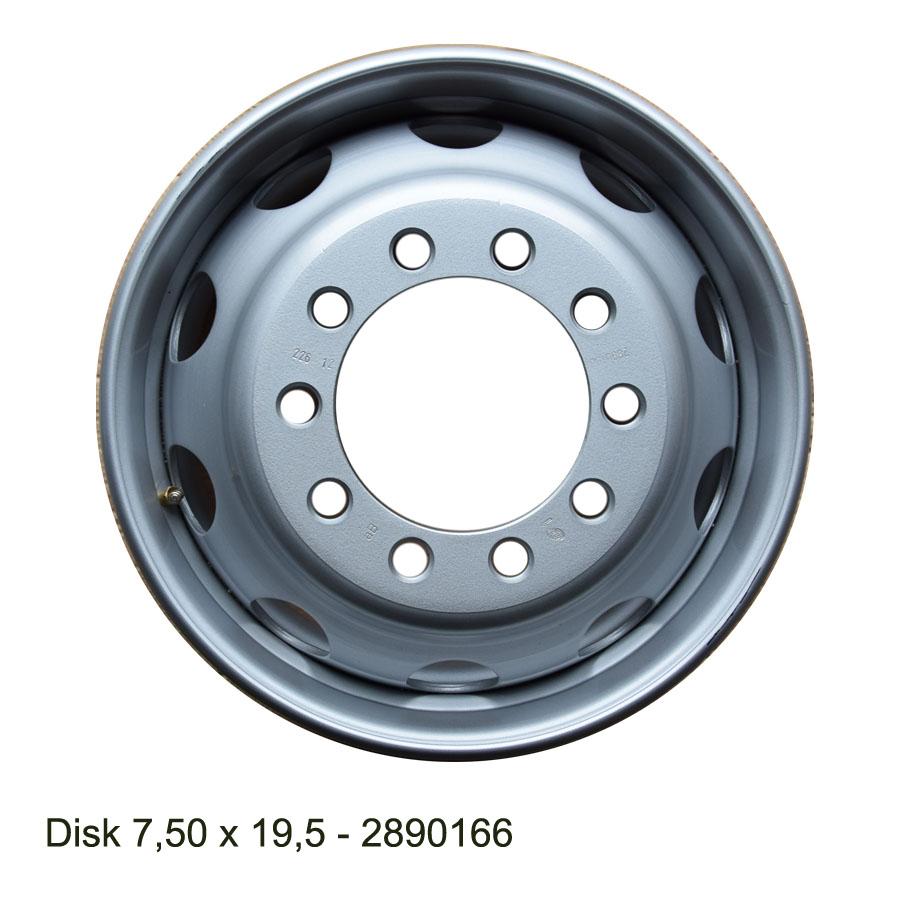 Nákladní disk 7,50x19,5 (10x225/ET138,5/Alive BZ) H.Lemmerz