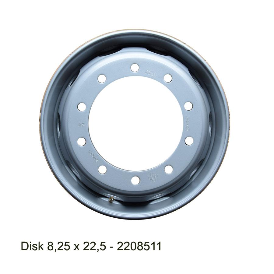 Nákladní disk 8,25x22,5 (10x281/ET152/Alive/MZ) Ples