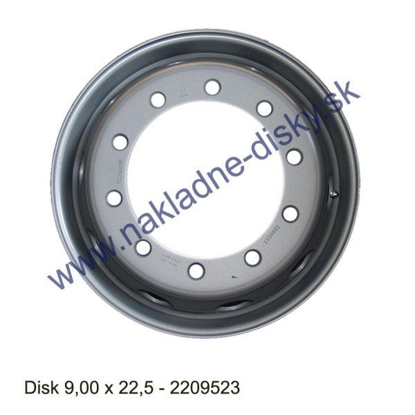 Nákladní disk 9,00x22,5 (10x281/ET161/Alive BZ) Ples