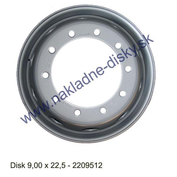 Nákladní disk 9,00x22,5 (10x281/ET161/Alive/MZ) Ples