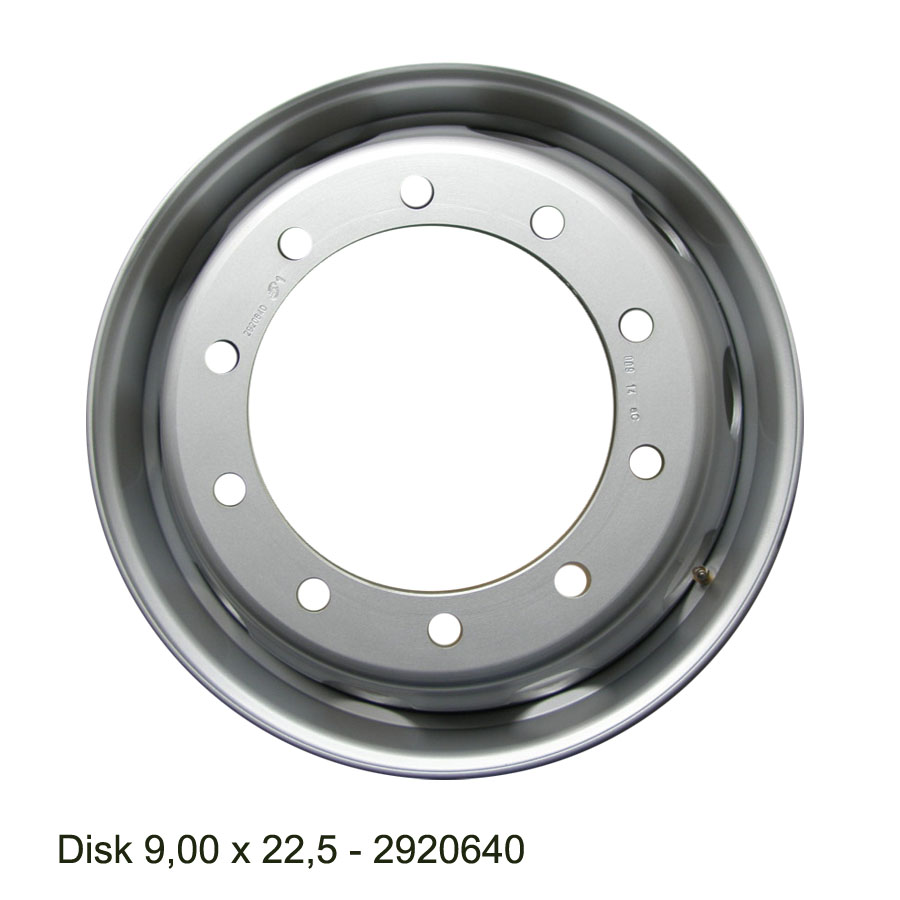 Nákladní disk 9,00x22,5 (10x281/ET161/Alive/MZ) H.Lemmerz